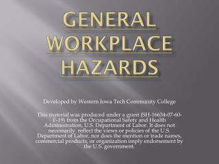 General Workplace Hazards