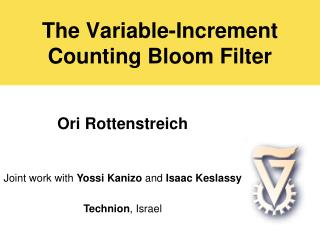 The Variable-Increment  Counting Bloom Filter