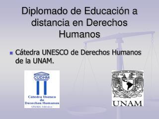 Diplomado de Educación a distancia en Derechos Humanos