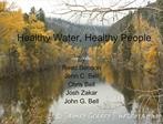 Healthy Water, Healthy People
