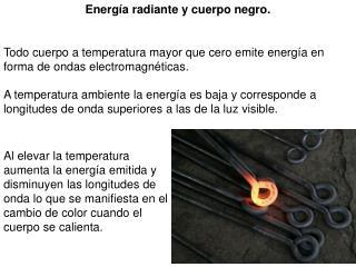 Todo cuerpo a temperatura mayor que cero emite energía en forma de ondas electromagnéticas.