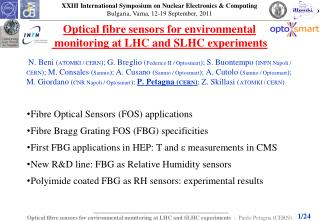 Optical  fibre  sensors for environmental  monitoring at LHC and SLHC experiments