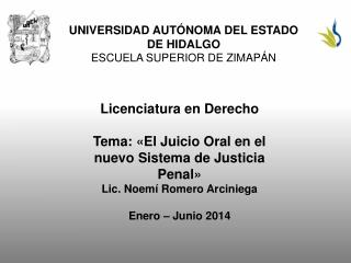 UNIVERSIDAD AUT�NOMA DEL ESTADO DE HIDALGO ESCUELA SUPERIOR DE ZIMAP�N