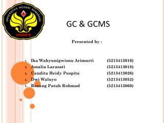 GC & GCMS