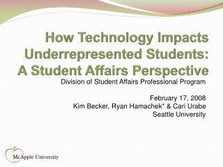 SeattleUniversityhamachek - How Technology Impacts ...