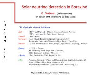 Solar neutrino detection in Borexino