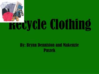 Recycle Clothing