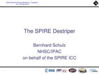 The SPIRE  Destriper