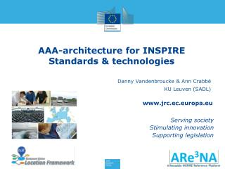 AAA-architecture for INSPIRE Standards & technologies