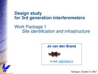 Jo van den Brand e-mail:  jo@nikhef.nl