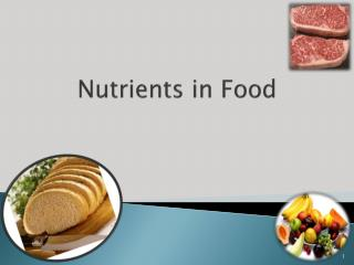 Nutrients in Food