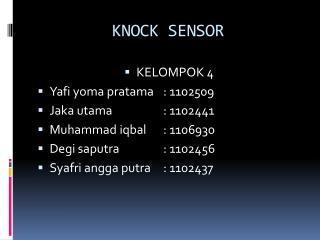 KNOCK SENSOR