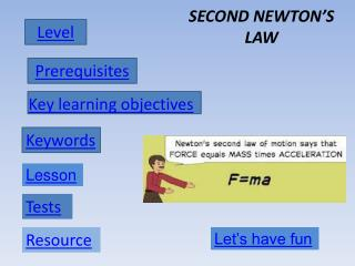 SECOND NEWTON'S LAW