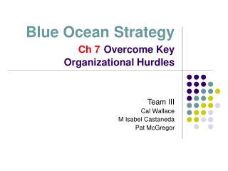 Blue Ocean Strategy Ch 7 Overcome Key  Organizational Hurdles