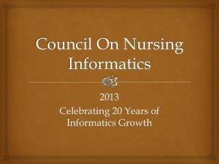 Council On Nursing Informatics