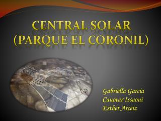 Central solar ( parque  El  Coronil )