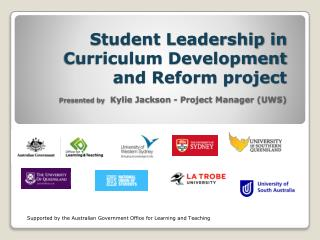 Supported by the Australian Government Office for Learning and Teaching