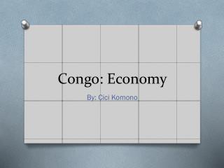 Congo: Economy