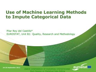 Use of Machine Learning Methods to Impute Categorical Data