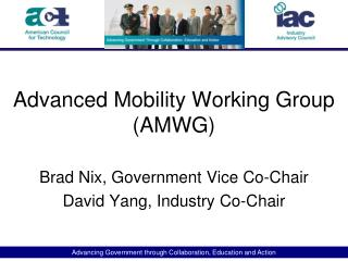 Advanced Mobility Working Group (AMWG)