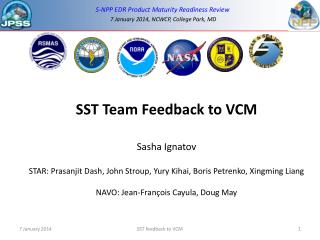 SST Team Feedback to VCM Sasha Ignatov