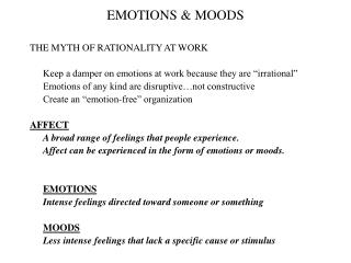 EMOTIONS  MOODS