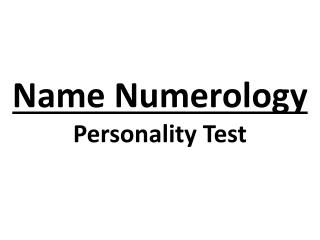 Name Numerology Personality Test