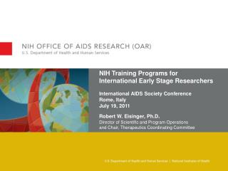 NIH Training Programs for International Early Stage Researchers