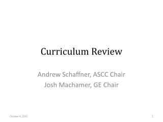 Curriculum Review