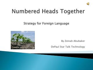Numbered Heads Together Strategy for Foreign Language