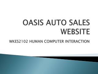OASIS AUTO SALES WEBSITE