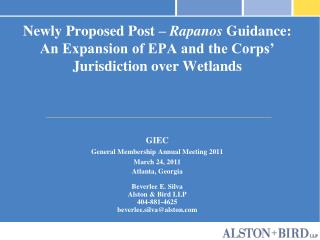 Newly Proposed Post   Rapanos Guidance: An Expansion of EPA and the Corps  Jurisdiction over Wetlands