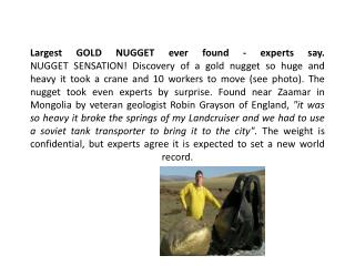 Largest+GOLD+NUGGET+ever+found