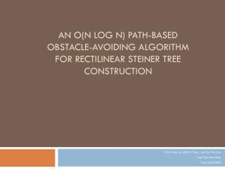 An O(n log n) Path-Based Obstacle-Avoiding Algorithm for Rectilinear Steiner Tree Construction