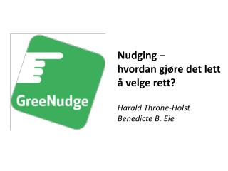 Harald Throne-Holst Benedicte  B.  Eie