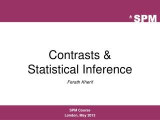 Contrasts & Statistical  Inference