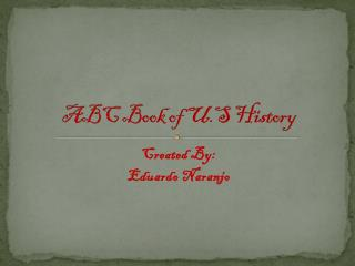 ABC Book of U.S History