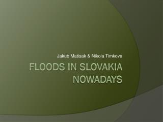Floods  in  slovakia nowadays