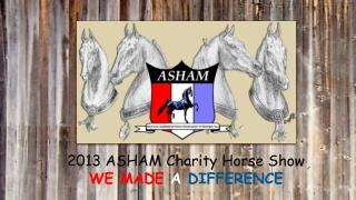 2013 ASHAM Charity Horse Show WE MADE  A DIFFERENCE