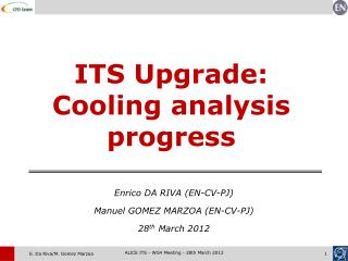 ITS Upgrade: Cooling analysis progress