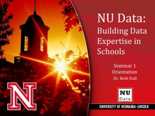 The NU Data project will….