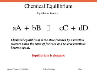 Equilibrium Reaction