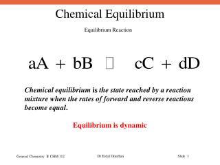 Equilibrium Reaction