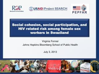 Social cohesion, social participation, and HIV related risk among female sex workers in Swaziland