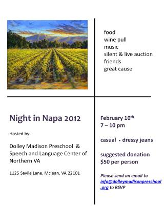 Night in  Napa 2012 Hosted by: