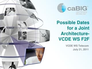 Possible Dates for a Joint Architecture-VCDE WS F2F