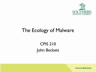 The Ecology of Malware