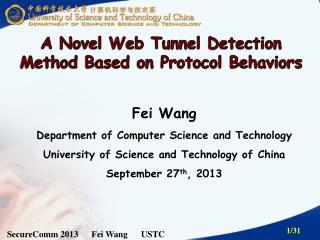 SecureComm  2013       Fei  Wang      USTC