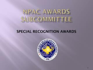 Npac awards subcommittee