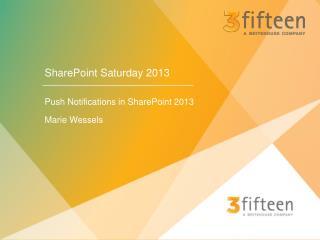 SharePoint Saturday 2013